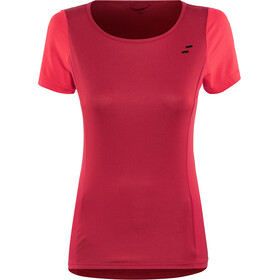 SQUARE Sport Round Neck Jersey shortsleeve Dam red